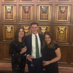 Samantha Jones (Clerk), Joe Ralph (Clerk) and Catherine Calder (Jt Chief Executive) at the IBC Annual dinner