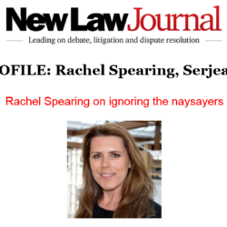 Rachel Spearing's Q & A featured in the New Law Journal